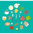 Breakfast components set vector image