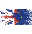 Britain and the European Union vector image vector image