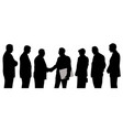 business group shaking hands folder contract vector image vector image