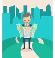 Businessman with a Map vector image