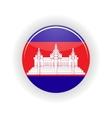 Cambodia icon circle vector image