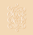 card with handdrawn typography design element on vector image vector image