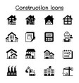 construction icon set graphic design vector image