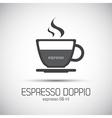 Cup of espresso doppio simple icon vector image vector image