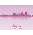 Dayton skyline in purple radiant orchid vector image vector image