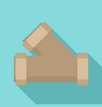 dirty water house pipe icon flat style vector image