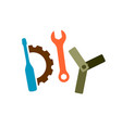 diy logo with tools wrench screwdriver gear vector image