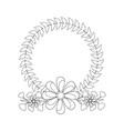 flower crown emblem icon imag vector image vector image