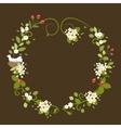 Flower Wreath Love Vintage Romantic Bird Spring vector image vector image