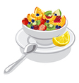 fresh fruit salad vector image vector image