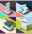 futuristic architecture 2x2 design concept vector image