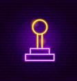 game joystick neon sign vector image vector image