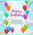 happy birthday greetings greeting card vector image