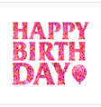 Happy Birthday square inscription in a balloon vector image vector image