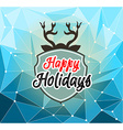 Happy Holiday and Merry Christmas Seasonal vector image
