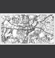 harare zimbabwe city map iin black and white vector image