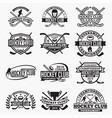 hockey club logo badge vector image vector image