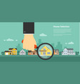 house selection concept vector image vector image