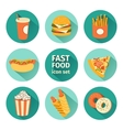icon set fast food flat design vector image vector image