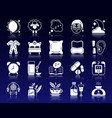 insomnia white silhouette icons set vector image