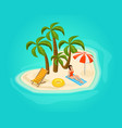 isometric island vacation concept vector image