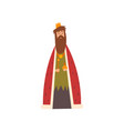 king in golden crown and red mantle european vector image vector image