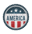 made in usa vintage badge seal vector image