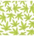 Marihuana ganja weed hand drawn seamless vector image