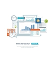 Market strategy analysis marketing research vector image vector image