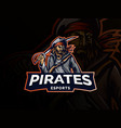 modern professional emblem pirate for eports team vector image