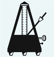 Musical metronome vector image vector image