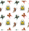 naive pattern with insects butterfly bug vector image vector image
