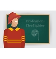 Occupation firefighter profession vector image