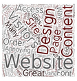 OGWU what annoys website users in terms of web vector image vector image