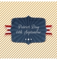 Patriot Day 11th September Emblem vector image vector image