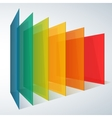 Perspective rainbow abstract rectangles on white vector image vector image