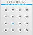 photo camera icon set vector image vector image