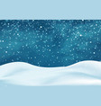 realistic snowdrifts winter snowy abstract vector image