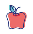 Red apple fruit icon stock