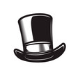retro gentleman hat in engraving style design vector image