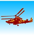 Russian helicopter Ka-52 alligator vector image vector image