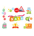 sale tagsbanners set shopping vector image