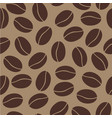 seamless pattern with coffee beans on dark vector image