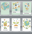 set of brochures and flyers in eco style vector image vector image