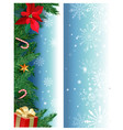 set of christmas banners with fir branches vector image vector image