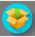 Shipping and packing icon Flat design style vector image vector image