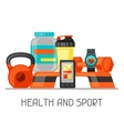 Sports and healthy lifestyle background with vector image