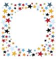 Stars confetti vector image vector image