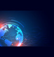 technology background with earth and circuit vector image vector image