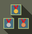 Three Medal In Picture Frame vector image vector image